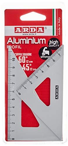 ARDA Blister Coppia Squadre 12 Cm In Alluminio - 45-60 Gradi