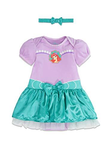 Disney Little Mermaid Ariel Baby Girls Costume Bodysuit Dress Headband 18-24 Months