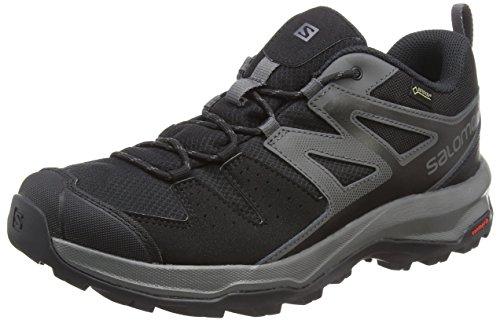 Salomon X Radiant GTX, Zapatillas de Senderismo para Hombre, Negro (Black/Magnet/Black), 43 1/3 EU