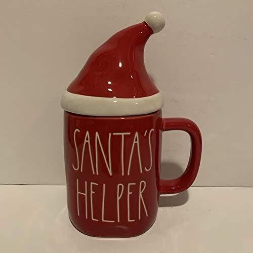 """Rae Dunn Santa 's Helper Tasse mit Weihnachtsmann-Aufsatz"""" allside rot"""" Feiertagsgeschenk"""" Edition 2020"""