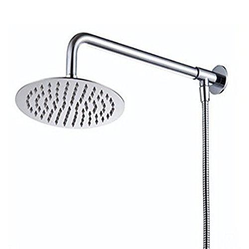 Hiendure® 20 cm Montaje en pared Acero inoxidable Lluvia Redondo Alcachofa de la ducha Con brazo de ducha Manguera de la ducha, acabado cromo
