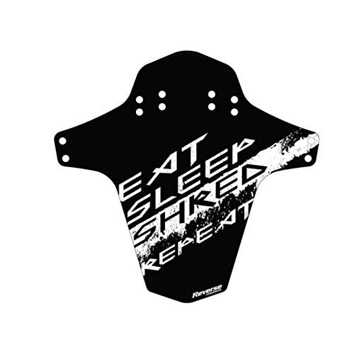 Reverse Garde-boue Eat, Sleep, Shred, Repeat Mudfender noir/blanc