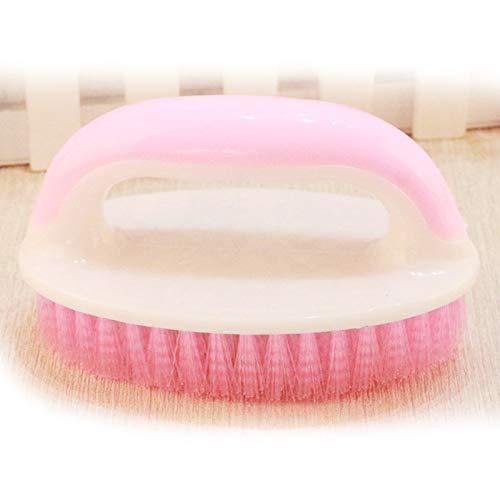 Lpiotyuxs Cepillo Cepillo Pincel de plástico Remoción de Polvo para el hogar Polvo portátil y fácil de Usar Pincel Pink Pink Purple (Color : Pink)
