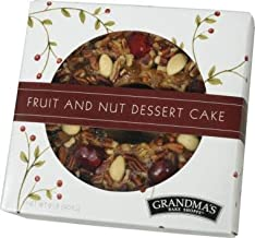 Grandma's Fruitcake, Traditional Recipe, Moist Dense Cake, Finest Quality Ingredients, No Citron, Lemon Peel or Bitter Candied Fruits, 2lb Ring in Gift-Ready Box