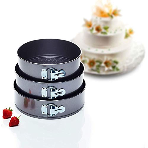 Kitchen Craft KCCAKESET3, Stampi per torte, Set di 3- 22 cm, 24cm, 26 cm