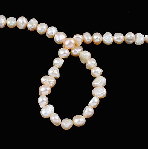 50 perlas cultivadas de agua dulce de 4 mm, color albarroco, natural, barroco, piedras preciosas, piedras preciosas, para enhebrar