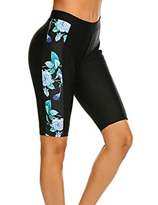 Ekouaer Women's Swim Capris UV Board Shorts Rash Guard Swimsuit Pants Swimwear S-XXL