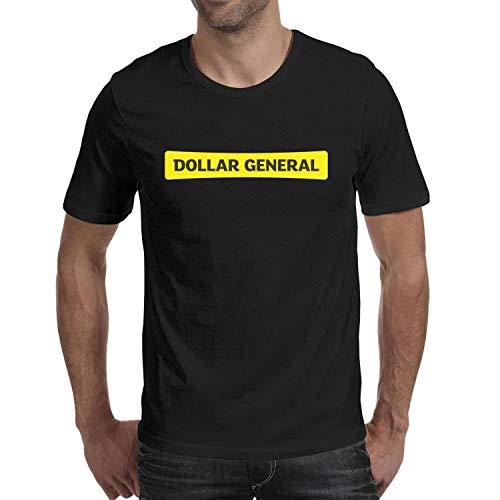 Unicorns Farting Mens Dollar-General-Logo- T-Shirt Crew Neck Short Sleeve Cotton Casual Shirt for Running