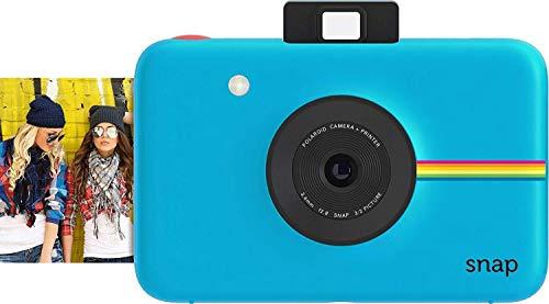 Polaroid Snap - Cámara digital instantánea, tecnología de impresión Zink Zero Ink, 10 Mp, Bluetooth, micro SD, fotos de 5 x 7.6 cm, azul