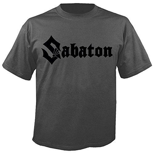 Sabaton - Logo - Charcoal - T-Shirt Größe L