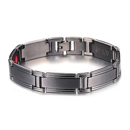 BJINUIY Kupferlegierung Negative Ionen Armband, Energy Healthy Sports Element, Paar Armband schwarz