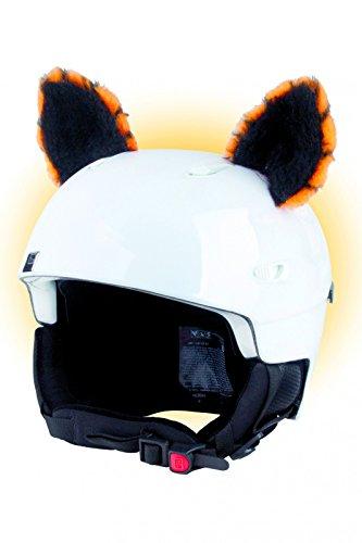 Crazy Ears Helm-Accessoires Ohren Katze Tiger Lux Frosch, Ski-Ohren geeignet für Skihelm, Motorradhelm, Fahrradhelm und vieles mehr, CrazyEars:Tiger Ohren