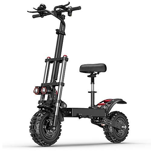HHHKKK Scooter - Patinete Eléctrico Plegable, Bicicleta Eléctrica Todoterreno Plegable de Una Sola Rueda de 11 Pulgadas La Velocidad más Rápida es de 55 km/H