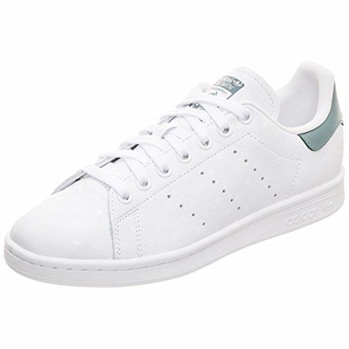 adidas Damen Stan Smith Sneaker, Weiß (Footwear White/Footwear White/Raw Green 0), 42 EU