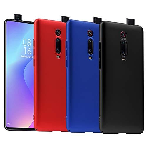 KZIOACSH Cover per Xiaomi Mi 9T/Mi 9T PRO/Redmi K20/K20 PRO, 3 Pack Ultra Sottile Plastica Duro Caso PC Protettiva Custodia per Xiaomi Mi 9T/Mi 9T PRO(Nero Rosso Blu )