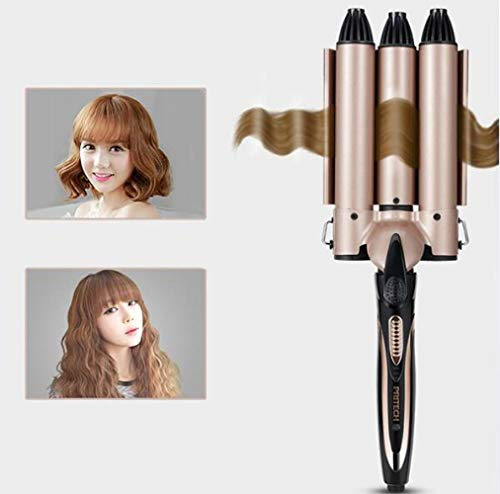 YOLL Hair Straightener 1 Inch Bling Flat Iron Professional Nano-Titanium Dual Voltage Straightening Irons, MCH Instant Heat-up 470 Quick Styling, LCD Display, Gorgeous Rhinestone (Rose GOL
