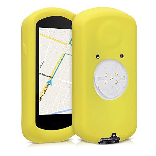 kwmobile Funda Compatible con Garmin Edge 1030/1030 Plus - Carcasa de Silicona para GPS - Cover en Amarillo