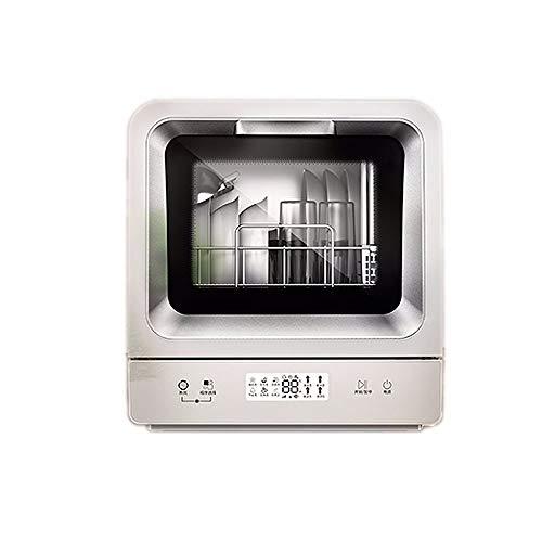 LAMCE Lave Vaisselle Mini Bosch NW-W1 - Mini Lave Vaisselle,Lave Vaisselle,Lave Vaisselle 2 Personnes,Vaisselle- Classe A+ / 48 decibels - 14 Couverts - Blanc Bandeau : Argent Silver