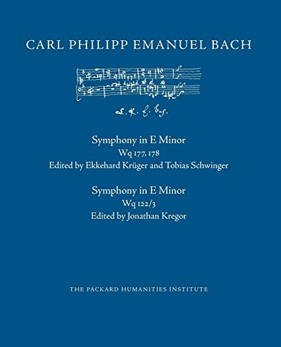 Symphony in E Minor, Wq 177-178 (CPEB:CW Offprints, Band 26)