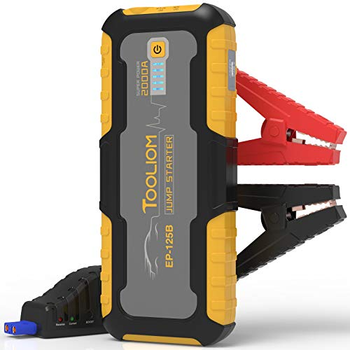 Learn More About TOOLIOM 2000A 20000mAh Car Jump Starter Portable Auto Lithium Battery Booster 12V (...