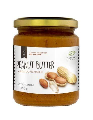 Nature's Finest Manteca de cacahuete 100% orgánica y sabrosa | 250g | Sin azúcar añadido, sin aceite de palma | Compatible con dietas Vegana, Paleo y Keto.