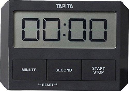 タニタ キッチン タイマー 吸盤付き 薄型 ブラック TD-409 BK ガラスにつくタイマー