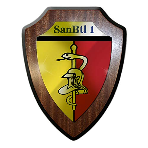 Copytec Wappenschild SanBtl 1 Sanitätsbataillon Bundeswehr Wappen Abzeichen Sani Sanitäter Arzt Einheit Dienstzeit Andenken #22290