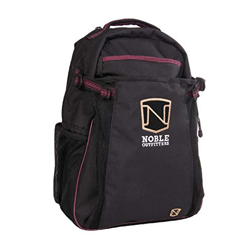Noble Outfitters Ringside Backpack with Helmet & Laptop Compartment, Water-Repellant and Large Capacity | Merlot