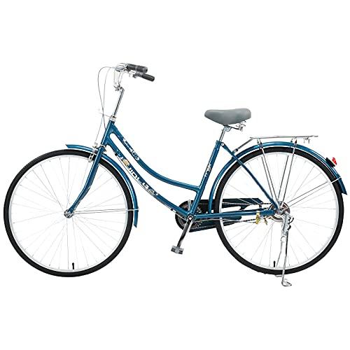 Sanamity 26 inch Complete Cruiser Bikes Low-Span Ladies Bicycle Women's Cruiser Bike Bicycles for Women Single Speed Bicycle Womens Comfort Bikes Beach Cruiser Bike Commute Campus Blue