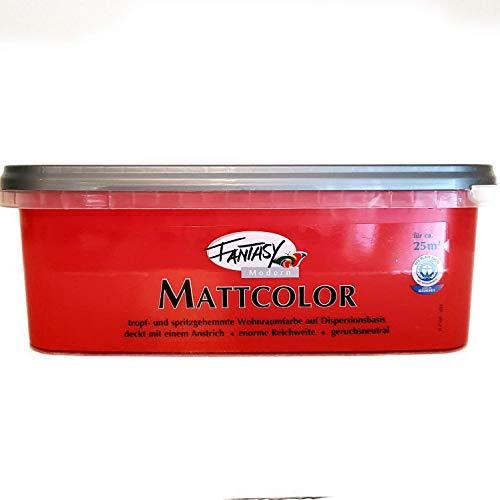 Fantasy Mattcolor Bunte Wandfarbe 2,5 L Farbwahl, Farbe:Blush