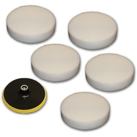 Tectake 10x Polierfell 220mm Für 180mm Klettteller 180mm Klettteller Für Poliermaschine Auto