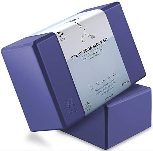 Node Fitness Premium Yoga Block Set of 2 4 Thick Foam Brick Royal Blue product image
