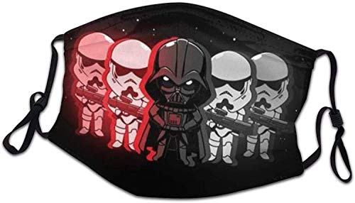 Face Mask Star-Wars Kids with Filter Pocket Reusable Washable Mask Bandana Neck Gaiter Balaclava Fabric Breathable Adjustable Earloop Size for Kids Children Adults