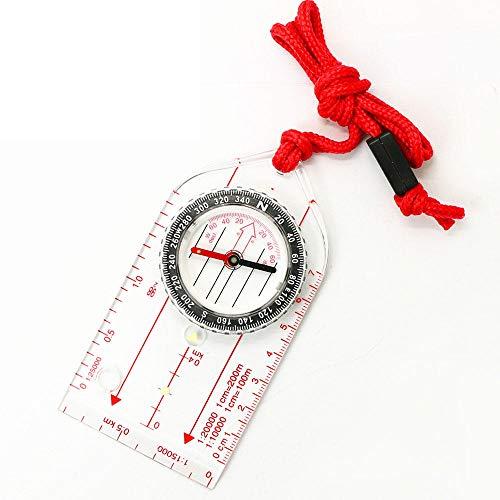 Lanyard Kompas Draagbaar Mini Navigatie Kompas Met Schaal Tekening Voor Onderwijs Gift Wandelen Kamperen Rijden Survival Outdoor Directional