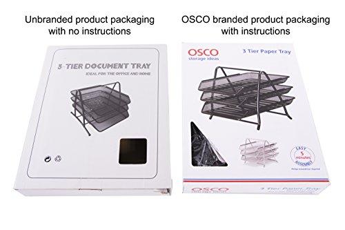 Osco Mesh Letter Tray 3-Tier Scratch-resistant Stackable Front-load Portrait Foolscap Silver Ref 3TT S