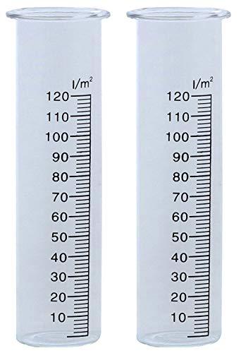 Novaliv 2 x Ersatzglas Wetterstation I Glas Wassermenge Regenmengenmesser I große Skala Niederschlagsmengenmesser