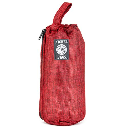 Nickel Bags Padded Drawstring Duffle Tube | Heavy Duty Duffle Bag with Protective Hemp Exterior for Glass Transportation Red 10 in