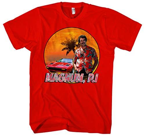 Magnum Männer und Herren T-Shirt   Spruch Kostüm Hemd Geschenk     M2 (XL, Rot)
