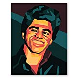 James Brown Poster – Digitales Pop-Art-Portrait –