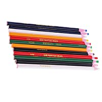 油性クレヨン マーク鉛筆 マークチョーク 色鉛筆 削り器必要ない 裁縫マーク 生地 12本入り