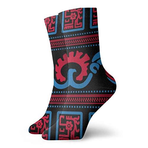 Diseño étnico Unisex Deporte Corto Calcetines Transpirables Térmicos Calcetines Hombres Mujeres Para Correr Senderismo Caminar Atlético