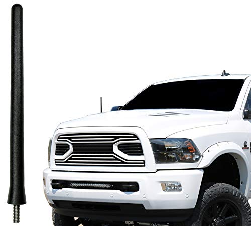 AntennaMastsRus - The Original 6 3/4 Inch is Compatible with Dodge Ram Truck 2500 (2010-2018) - Car Wash Proof Short Rubber Antenna - Internal Copper Coil - Premium Reception - German Engineered