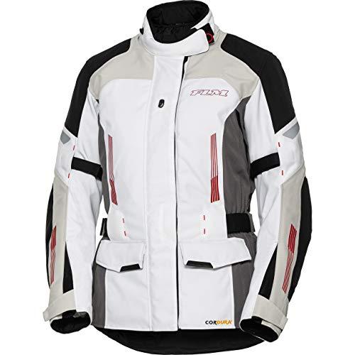 FLM Motorradjacke mit Protektoren Motorrad Jacke Damen Touren Textiljacke 3.0 weiß M, Tourer, Ganzjährig