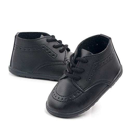 Black Infant Boy Dress Shoes