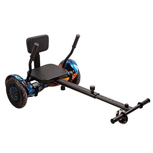 """OMOLA Hoverboard seat Attachment for 6.5""""-10"""" Hoverboard, go Kart Conversion kit, Accessory for self Balancing Scooter, Transform Your Hoverboard into a go cart"""