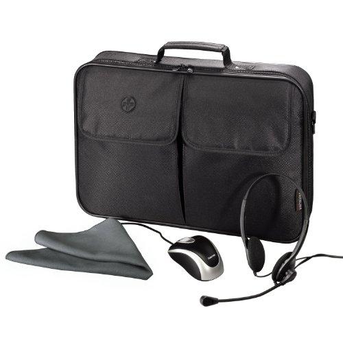 Hama Zubehör-Set für Notebook bis 44 cm (17,3 Zoll) inkl. Tasche, Headset, Maus und Schutztuch