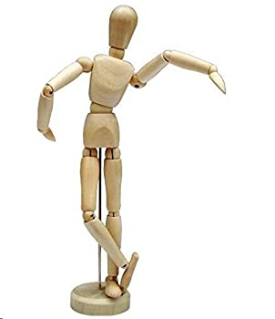 HSOMiD 12   Artists Wooden Manikin Jointed Mannequin Perfect for Home Decoration/Drawing The Human Figure  A
