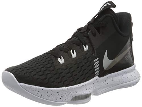 Nike Lebron Witness 5, Scarpe da Basket Unisex-Adulto, Summit White/University Gold-White-Wheat, 43 EU