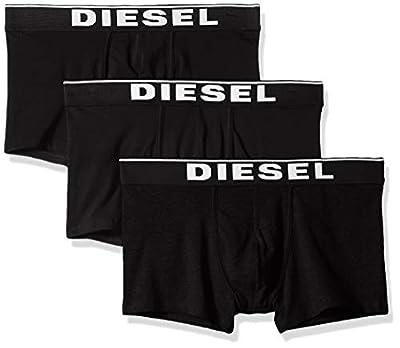 Diesel Men's UMBX-damienthreepack Boxer 3pack All-timers, Off/Black, L from Diesel