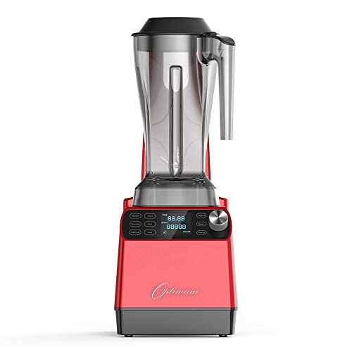 Optimum Vacuum Blender - High-Speed Countertop Kitchen Smoothie Maker, Quiet Blender, Virtually No Foam, Heavy Duty Motor 2238W, Tamper Tool, 10 year Warranty (Red)